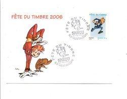 OBLITERATION FETE DU TIMBRE BD SPIROU à VERTAIZON PUY DE DOME 2006 - Postmark Collection (Covers)