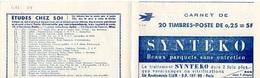 CARNET MARIANNE DE DECARIS - YVERT 1263 C4 - NSC - EXCELLENT ETAT - PUB AIR FRANCE - SYNTEKO - - Carnets