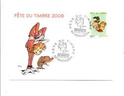 OBLITERATION FETE DU TIMBRE BD SPIROU à VERTAIZON PUY DE DOME 2006 - Marcophilie (Lettres)
