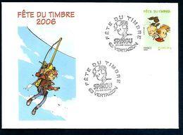OBLITERATION FETE DU TIMBRE 2006 BD SPIROU VERTAIZON PUY DE DOME - Postmark Collection (Covers)