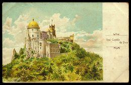 Postal Antigo REAL CASTELLO DA PENA / Palacio Da Pena SINTRA / Lisboa. Old LITHO Postcard GRUSS Type 1900s - Lisboa