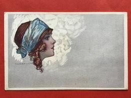 Illustrateur CORBELLA - 465-5 - MODE - MOOI MEISJE MET HAARBAND - JOLIE FILLE AVEC BANDEAU - Corbella, T.
