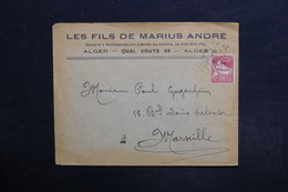 ALGÉRIE - Enveloppe Commerciale D 'Alger Pour Marseille - L 29135 - Lettres & Documents