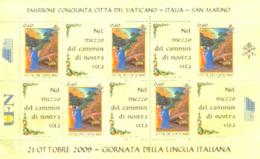 VATICAN 2009 - Journée De La Langue Italienne - Feuillet - Blocs & Feuillets