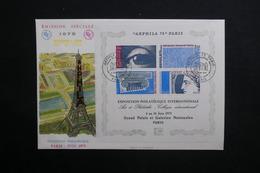 FRANCE - FDC En 1975 , Bloc Arphila - L 29138 - FDC