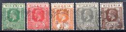 NIGERIA - (Colonie Britannique) - 1921-31 - N° 18 à 23 - (Lot De 5 Valeurs Différentes) - (George V) - Nigeria (...-1960)