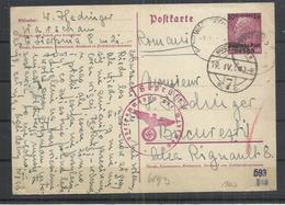 EAST (POLAND) GERMAN OCCUPATION 1943  - POSTKARTE - PERFECT CONDITION - RARE!! - Pologne