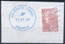 France - Marianne De Beaujard 0,88 -YT 4234 Obl Ondulations Et Cachet Rond Bleu - 2008-13 Marianne De Beaujard