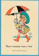M. L. ATTWELL - Nous Pensons Tous à Toi ! Petite Fille Et Ses 2 Petis Chiens Caniches - Attwell, M. L.