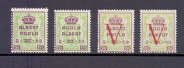 PR 129/32 PRINS ALBERT EN PRINSES PAOLA  POSTFRIS** 1959 - Commemorative Labels