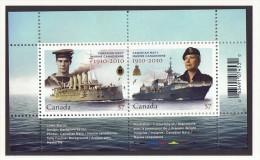 2010  Canadian Navy Centennial  Souvenir Sheet,   Sc 2384 MNH - 1952-.... Reign Of Elizabeth II