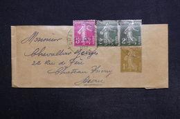 FRANCE - Bande Journal Type Semeuse + Complément De Château Thierry Pour Château Thierry En 1937 - L 29152 - Bandes Pour Journaux