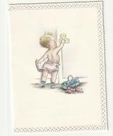 Geboortekaartje Faire Part Naissance Met Kant Avec Dentelle Wiarda Eindhoven 1968 Dekkers Van Den Elzen Reniers - Menga - Birth & Baptism