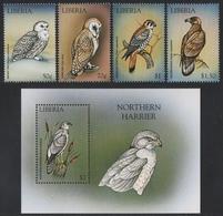 Liberia 1999 - Mi-Nr. 2261-2264 & Block 200 ** - MNH - Vögel / Birds - Liberia