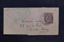 FRANCE - Bande Journal Type Blanc De Soissons Pour Château Thierry En 1911 - L 29155 - Biglietto Postale