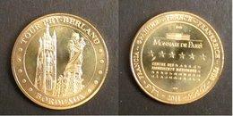 A156 Médaille Touristique Monnaie De Paris Tour Pey-Berland à Bordeaux 2011 - Monnaie De Paris