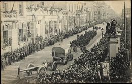 Cp Bruxelles Brüssel, Entrée Du Roi Et Des Troupes Alliées 1918, Grosse Artillerie Belge - Bruxelles-ville