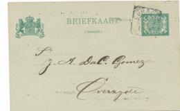 Curacao - 1906 - 2,5 Cent Cijfer, Briefkaart G15 Met Particuliere Bedrukking Op Achterzijde - Lokaal Gebruikt - Curaçao, Antilles Neérlandaises, Aruba