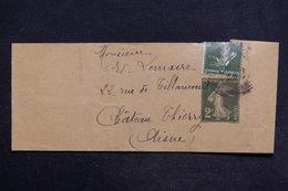 FRANCE - Bande Journal Type Semeuse + Complément Pour Château Thierry - L 29163 - Biglietto Postale