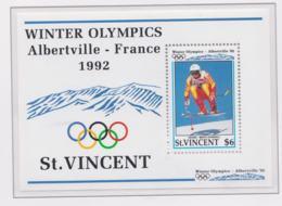 St.Vincent 1992 Olympic Games Albertville Souvenir Sheet MNH/** (H53) - Hiver 1992: Albertville