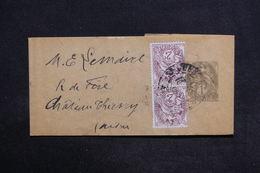 FRANCE - Bande Journal Type Blanc + Compléments Pour Château Thierry - L 29166 - Biglietto Postale