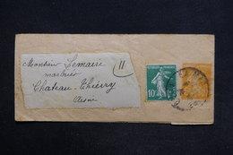 FRANCE - Bande Journal Type Semeuse + Complément  Pour Château Thierry - L 29170 - Biglietto Postale