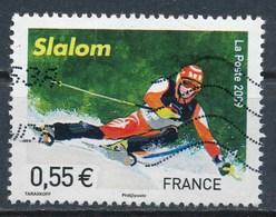 France - Championnats Du Monde De Ski Alpin - Slalom  YT 4330 Obl Ondulations - 2008-13 Maríanne De Beaujard