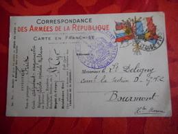 Carte De Franchise Militaire - Ecole Speciale Militaire - Saint-Cyr - Marcophilie (Lettres)