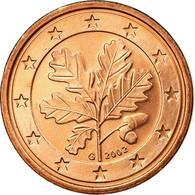 République Fédérale Allemande, Euro Cent, 2002, TTB, Copper Plated Steel - Allemagne