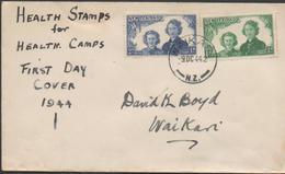 3397   Carta Waikari 1944, Comprar Estampillas Sanitarias Para Campamentos De Salud,buy Health Stamps For Health Camps - 1907-1947 Dominion