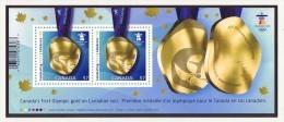 2010 Olympic  Gold Medal Souvenir Sheet Sc 2371  MNH - 1952-.... Reign Of Elizabeth II