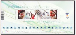 2010 Olympic Spirit   Souvenir Sheet Sc 2373  MNH - 1952-.... Reign Of Elizabeth II