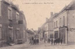 CIRAN-la-LATTE (37)  Rue Principale . Carte Avec Pliure - Andere Gemeenten