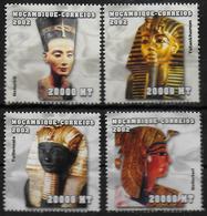 MOZAMBIQUE  N° 2034/37 * * ( Cote 14e )  Egyptologie Rois Et Reines D Egypte - Egyptologie