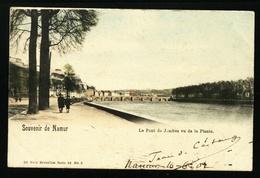 Namur. Souvenir De Namur. Le Pont De Jambes Vu De La Plante. Carte Colorisée. **** - Namur