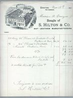 Facture Brought Of S.Hilton & Co. Hat Leather Manufacturers De 1907 - Royaume-Uni