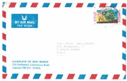 IN102  India 1998 Cover Air Mail  Sent To Italy - India