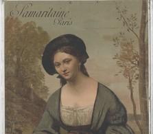 1900 Calendrier Publicitaire De La SAMARITAINE PARIS, Imprimé Recto-verso Avec Une Lithographie De COROT. Format:33/44cm - Calendriers