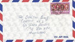 St Vincent 1980 Kingstown King James Charles QE II Silver Jubilee Cover - St.-Vincent En De Grenadines