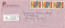 St Vincent 1989 Kingstown Coins Currency Registered Cover - St.-Vincent En De Grenadines