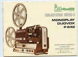 SUPERBE MODE D'EMPLOI RARE PROJECTEUR SUPER 8 Cinema Saint Etienne  HEURTIER Bobine NOTICE Technique DUOVOX - Merchandising