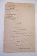 MEAUX - L'INDEPENDANT DE SEINE ET MARNE - IMPRIMERIE -  35,Rue Du Tan  -année 1883 - Stamperia & Cartoleria