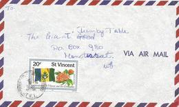 St Vincent 1979 Kingstown Flag Shrub Ixora Coccinea Cover - St.-Vincent En De Grenadines