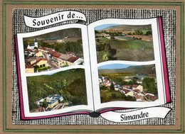 CPSM Dentelée - SIMANDRE (01) - Carte De Multi-vues Aériennes Au Livre-ouvert (album-photo Ouvert) De 1964 - Other Municipalities