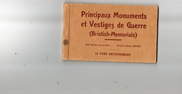 Carnet Complet De 14 Cpa - Principaux Monuments Et Vestiges De Guerre - France