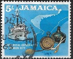 JAMAICA 1964 Exploration Of Sunken City, Port Royal; - 5s - Black, Ochre And Blue FU - Jamaica (1962-...)