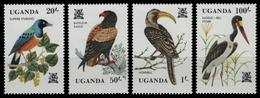 Uganda 1982 - Mi-Nr. 333-336 ** - MNH - Vögel / Birds - Uganda (1962-...)