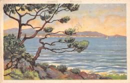 Cartolina Illustrata Mare Costa Vele Litorale Spedita A Monza 1934 - Cartoline