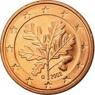 République Fédérale Allemande, 5 Euro Cent, 2002, SUP, Copper Plated Steel - Allemagne
