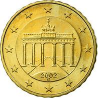 République Fédérale Allemande, 10 Euro Cent, 2002, TTB, Laiton, KM:210 - Allemagne